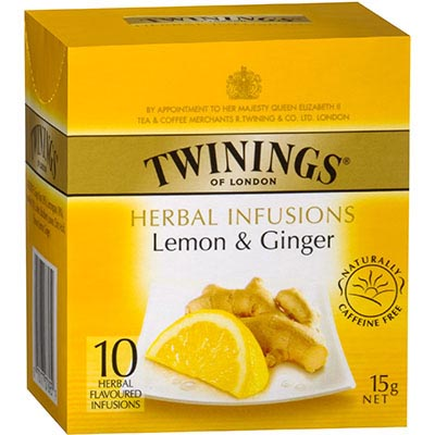 Image for TWININGS TEABAGS LEMON AND GINGER PACK 10 from Our Town & Country Office National