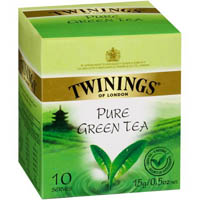 TWININGS TEABAGS PURE GREEN PACK 10