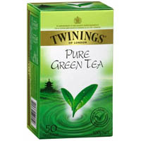 TWININGS TEABAGS PURE GREEN PACK 50