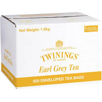 TWININGS BULK ENVELOPED EARL GREY CARTON 500