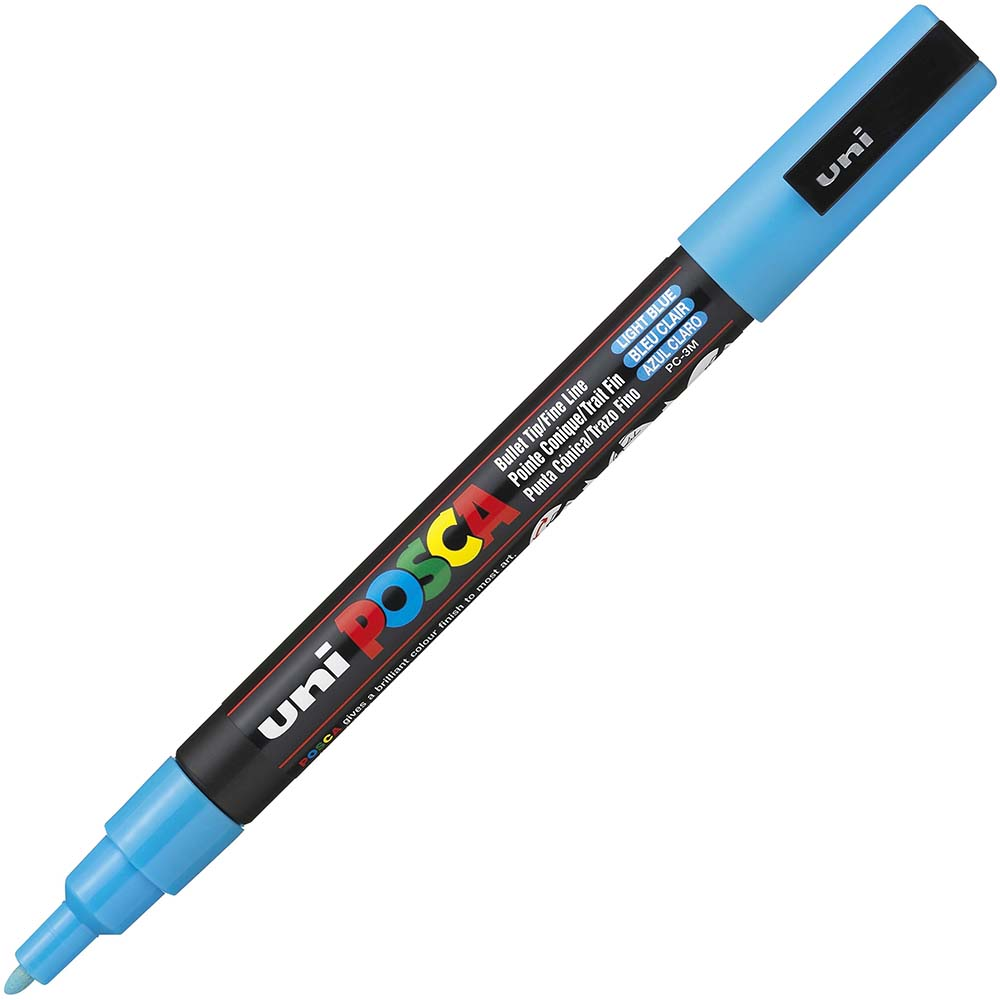 Image for UNI PC-3M POSCA POSTER MARKER FINE BULLET TIP 1.3MM LIGHT BLUE from Paul John Office National