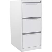 STEELCO FILING CABINET 3 DRAWER 1015 X 470 X 620MM WHITE SATIN