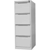 STEELCO FILING CABINET 4 DRAWER 1320 X 470 X 620MM SILVER GREY