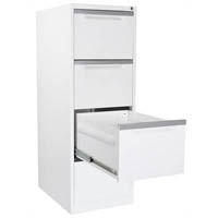 STEELCO FILING CABINET 4 DRAWER 1320 X 470 X 620MM WHITE SATIN
