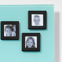 NAGA GLASSBOARD SUPER STRONG MAGNETIC PHOTO FRAME 55 X 55MM BLACK