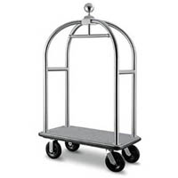VISIONCHART BIRDCAGE LUGGAGE TROLLEY BRUSHED STAINLESS STEEL