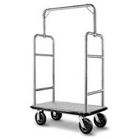 VISIONCHART LUGGAGE AND GARMENT TROLLEY BRUSHED STAINLESS STEEL