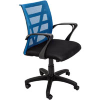 VIENNA MESH CHAIR MEDIUM BACK BLUE