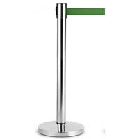 RETRACTA Q CHROME POLE AND GREEN BELT 2M