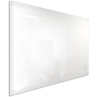 LUMIERE MAGNETIC GLASSBOARD WHITE+ GLASS PEN TRAY 1200 X 900MM