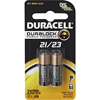DURACELL ALKALINE 21/23 12V SECURITY BATTERY PACK 2