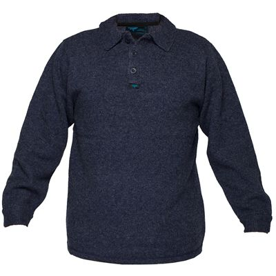 Image for PRIME MOVER MW863 WOOL KNIT JUMPER WITH 2 BUTTON CLOSURE NAVY MEDIUM from Pirie Office National