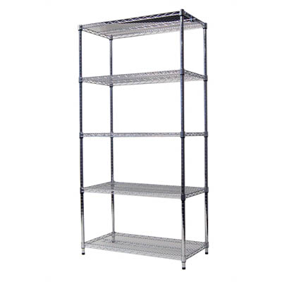 Image for ACERACK WIRE SHELVING 1800 X 1200 X 450MM CHROME from Our Town & Country Office National