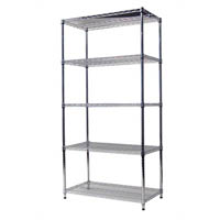 ACERACK WIRE SHELVING 1800 X 1200 X 450MM CHROME