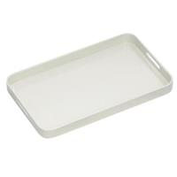 CONNOISSEUR MELAMINE TRAY WITH HANDLES WHITE