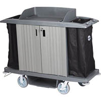 COMPASS HARD FRONT HOUSEKEEPING TROLLEY WITH DOORS GREY