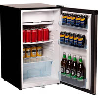 NERO FRIDGE AND FREEZER 125 LITRE 490 X 560 X 840MM STAINLESS STEEL