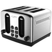 NERO CLASSIC STAINLESS STEEL STYLE TOASTER 4 SLICE