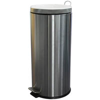 COMPASS ROUND PEDAL BIN 30 LITRE STAINLESS STEEL