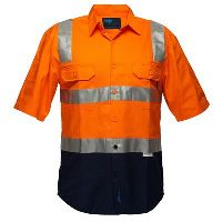 PRIME MOVER WW1002 DRILL SHIRT SHORT SLEEVE WITH TAPE OVER SHOULDER 2 TONE