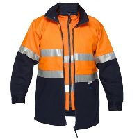 PRIME MOVER MJ777 HI VIS JACKET 2 TONE 4 IN 1 WITH VEST 3M TAPE ZIP