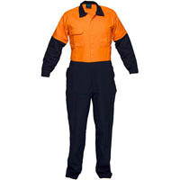 PRIME MOVER MW931 COVERALL WITH METAL STUD CLOSURE 2 TONE
