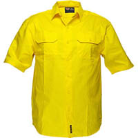 PRIME MOVER WW989 COTTON DRILL SHIRT SHORT SLEEVE