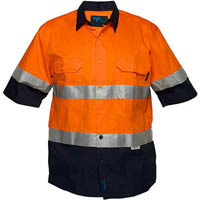 PRIME MOVER MA802 COTTON DRILL SHIRT 3M TAPE 2 TONE