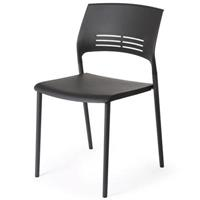 ETERNIA STACKING CHAIR BLACK