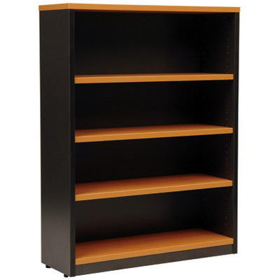Image for OXLEY 4 SHELF BOOKCASE 900 X 315 X 1200MM BEECH/IRONSTONE from Office National Perth CBD