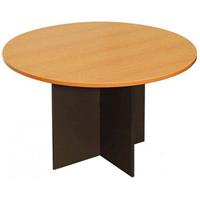 OXLEY ROUND MEETING TABLE 1200MM DIAMETER BEECH/IRONSTONE