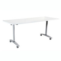 SUMMIT FLIP TABLE 1800 X 750MM WHITE