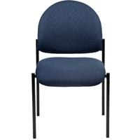 YS DESIGN STACKING VISITORS CHAIR MEDIUM BACK BLUE