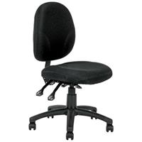 LINCOLN TASK CHAIR MEDIUM BACK BLACK