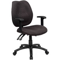 INITIATIVE AMBITION HIGH BACK OPERATOR CHAIR WITH ARMS BLACK