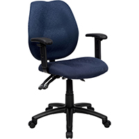 INITIATIVE AMBITION HIGH BACK OPERATOR CHAIR WITH ARMS BLUE