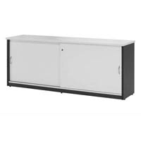 OXLEY CREDENZA 1800 X 450 X 730MM WHITE/IRONSTONE